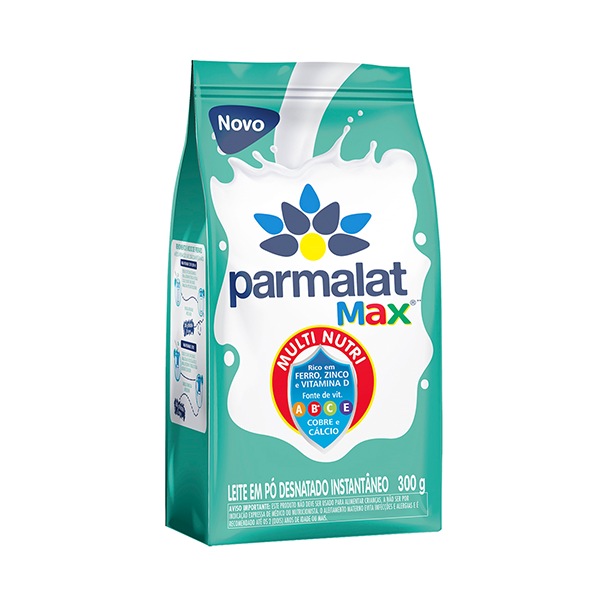 Leite Pó Desnatado Instantâneo Parmalat Max 300g