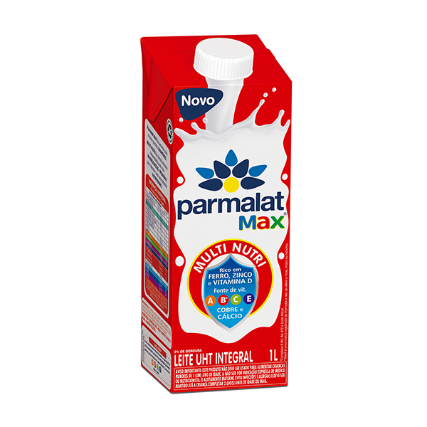 Leite UHT Integral Fortificado Parmalat Max 1L